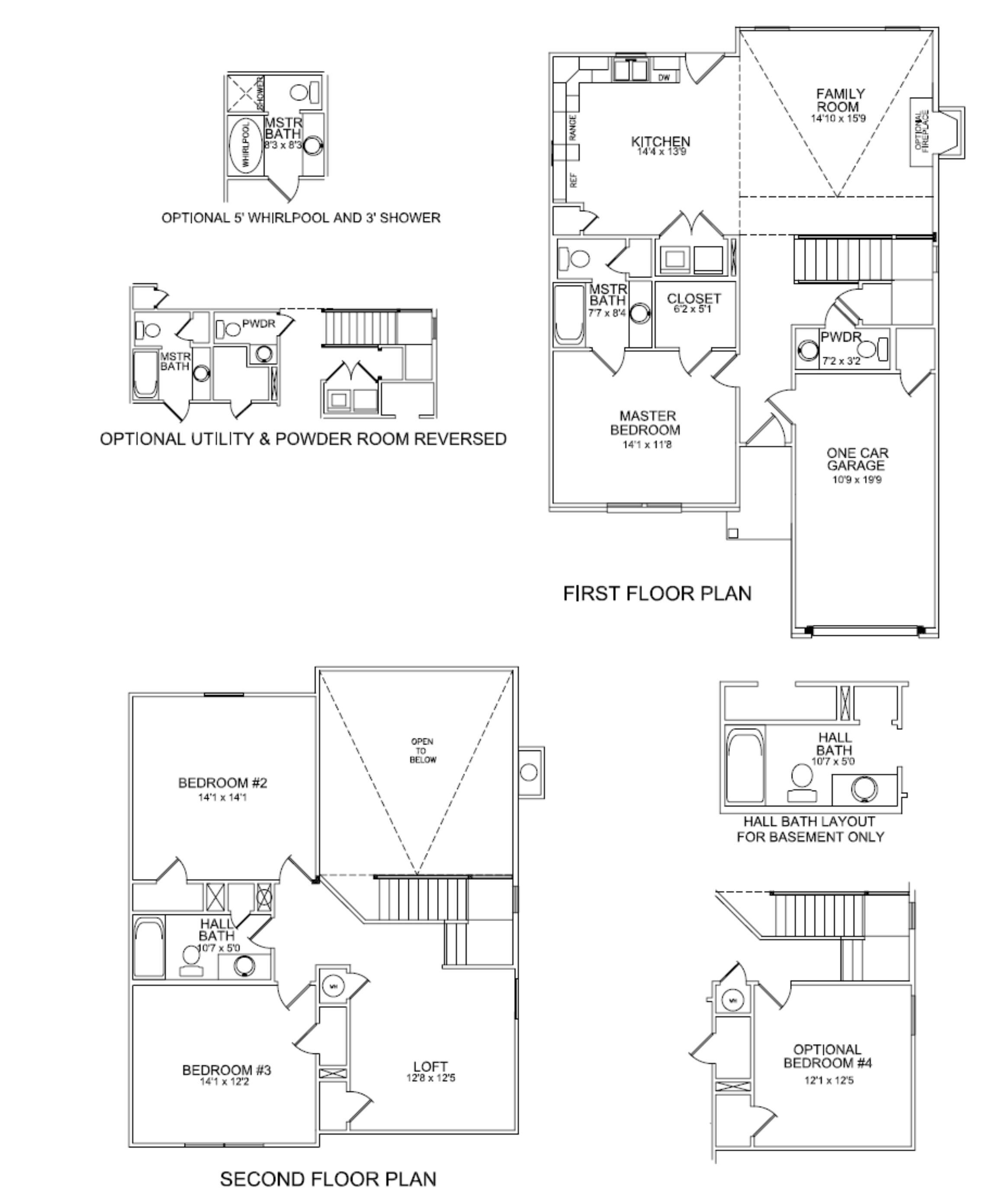 Floor Plans Mercer One Car Lexington Kentucky Real Estate