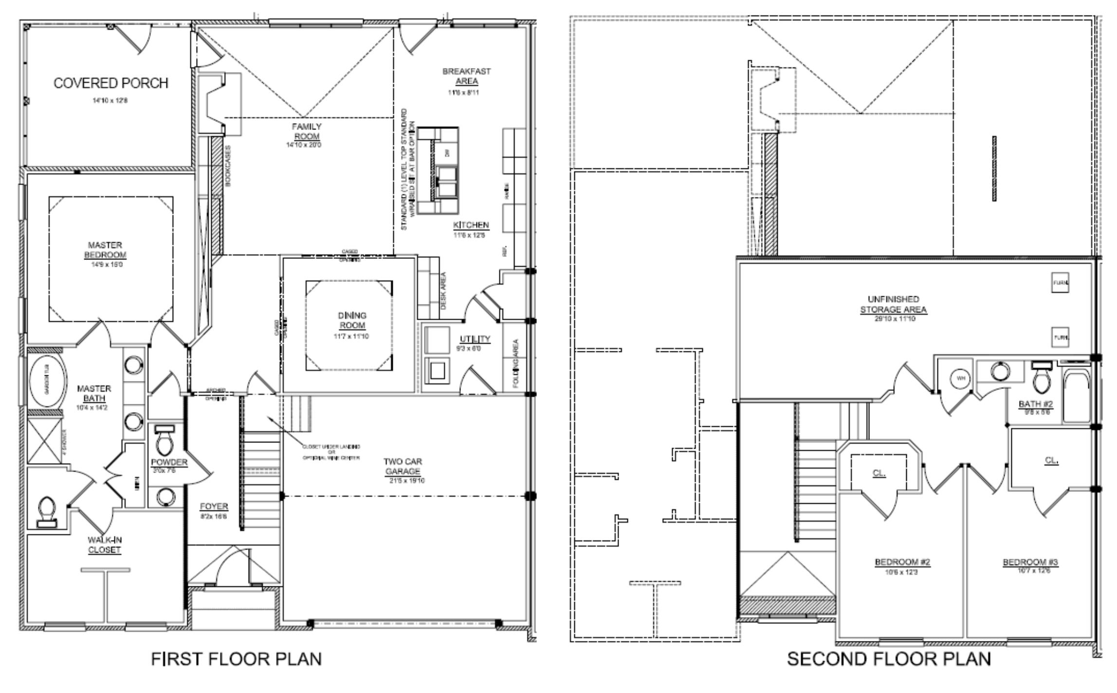 Tuscany floor plan Luxury townhome floor plans
