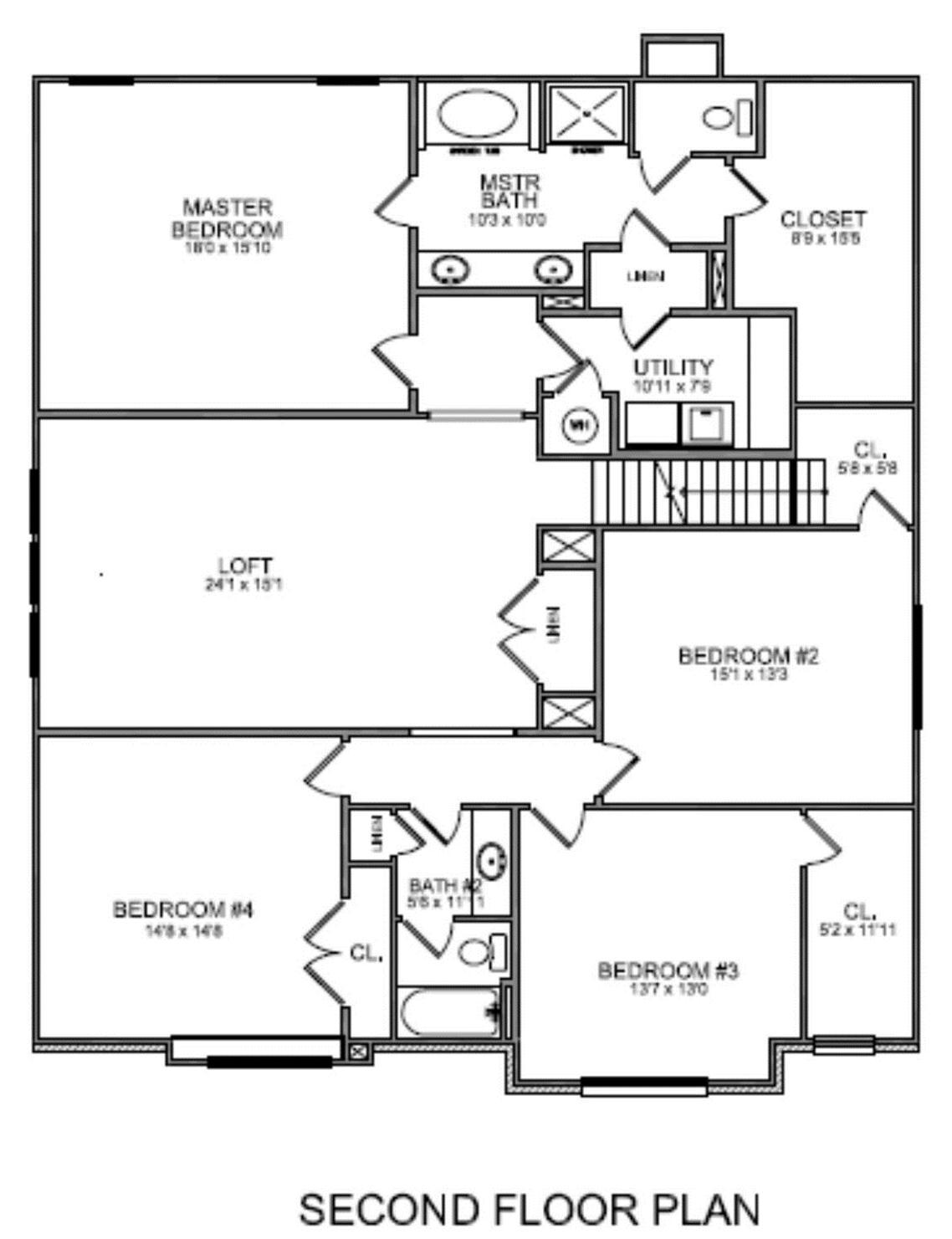 Upstairs Master Bathroom Floor Plans With Walk In Closet