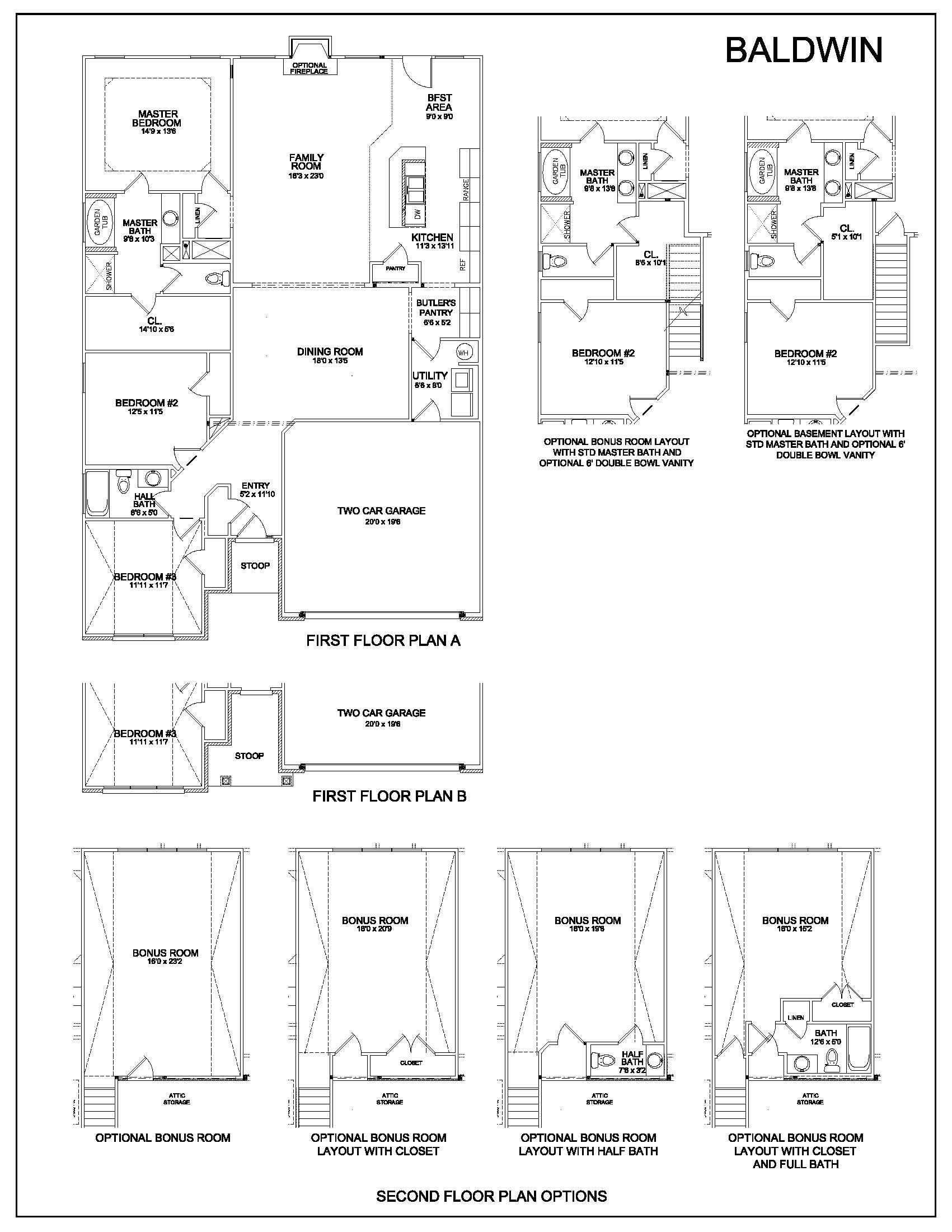 Floor plans baldwin kentucky real estate for Baldwin floor plan