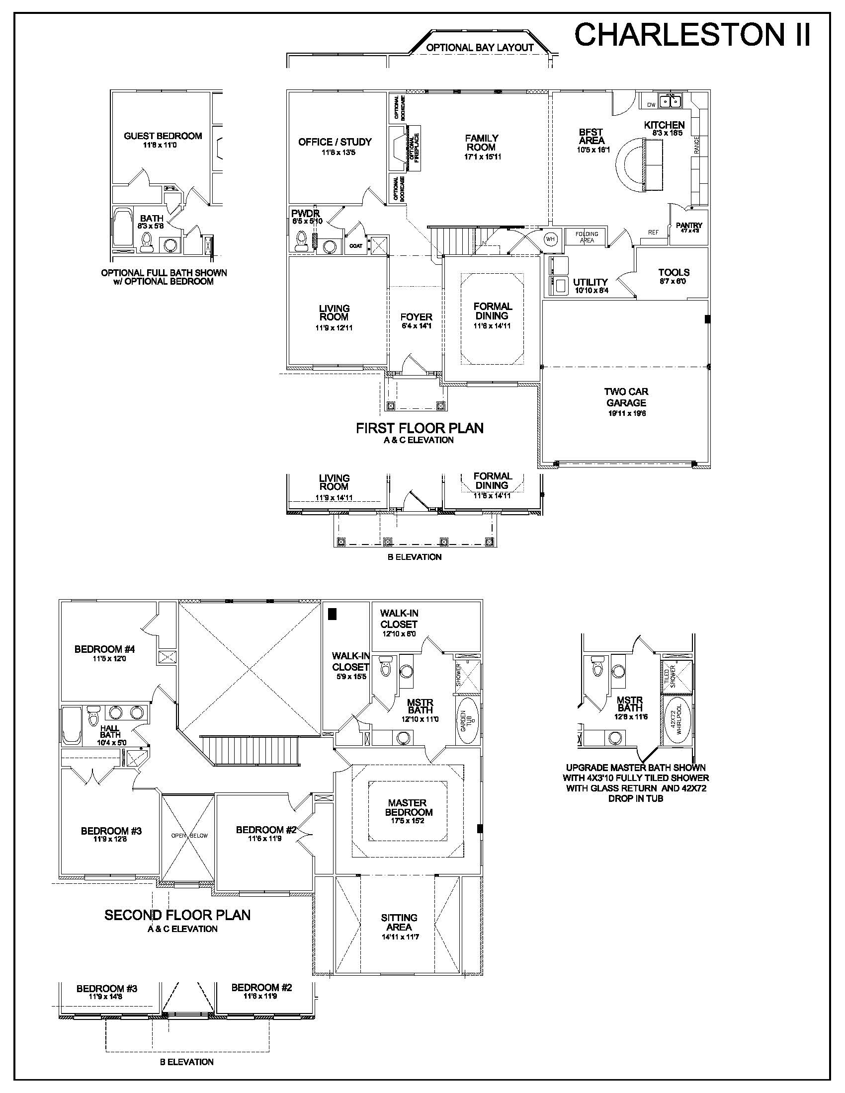 Floor Plans - Charleston II - Louisville Real Estate