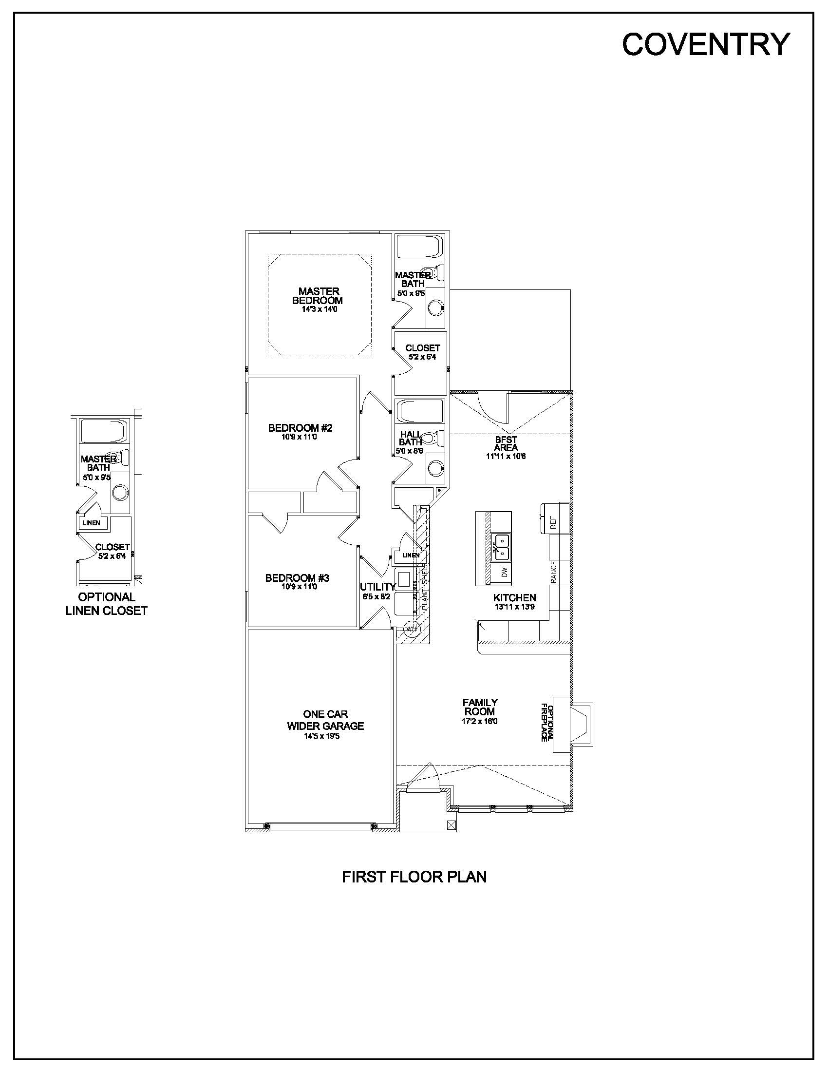 Floor plans coventry louisville kentucky real estate for Coventry homes floor plans