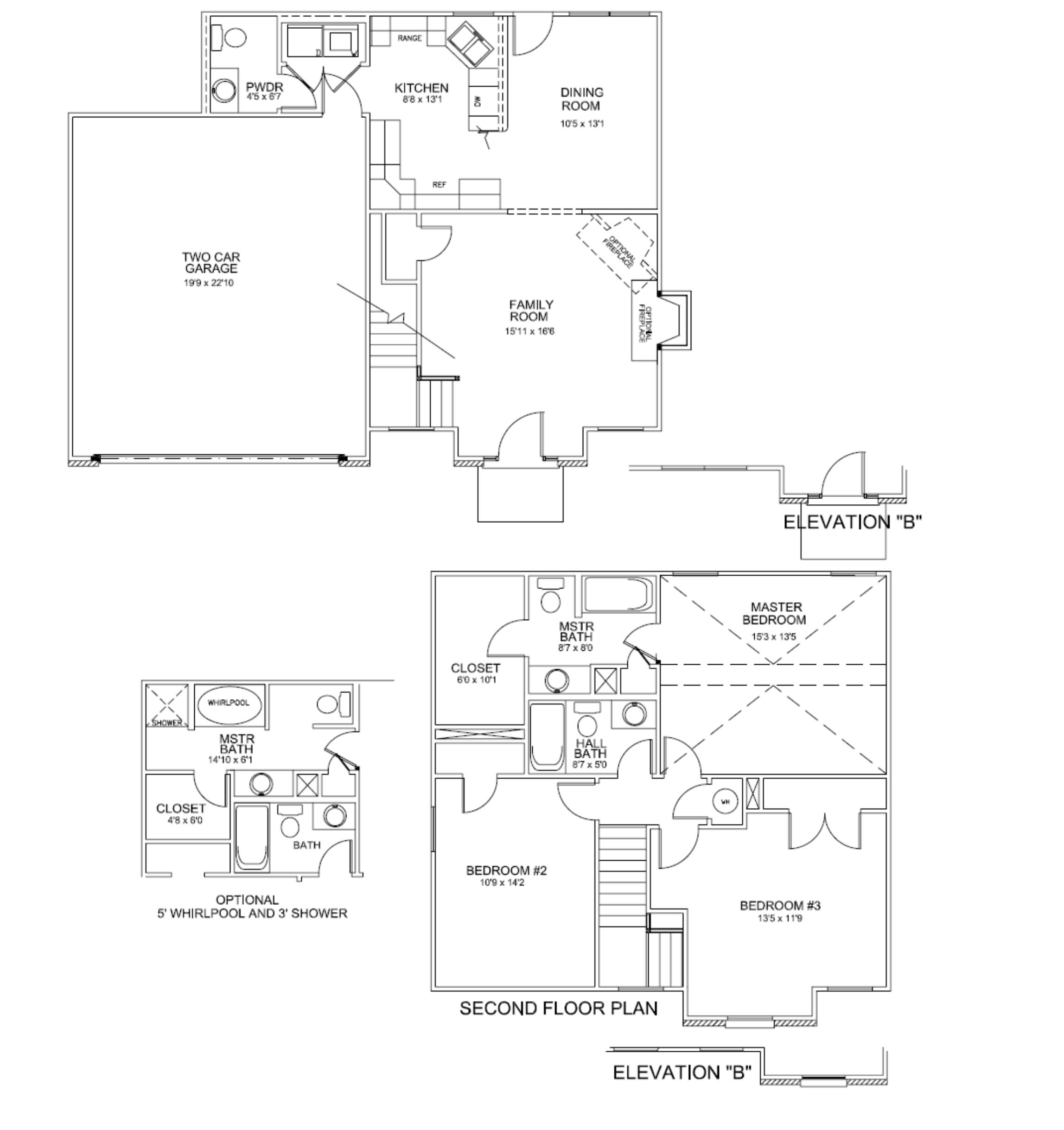 Floor plans wagner two car kentucky homes for sale for Car floor plan