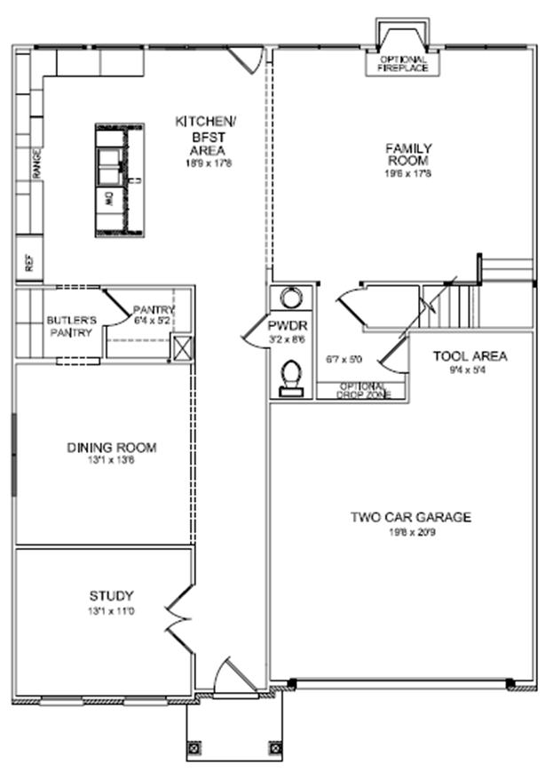 First floor plan cavanaugh ii expanded,House Plans That Can Be Expanded