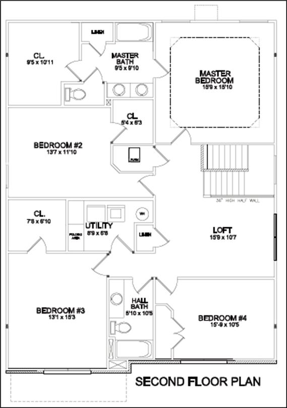 Brooklyn Interesting First Floor Master Bedroom Floor Plans Concept Design