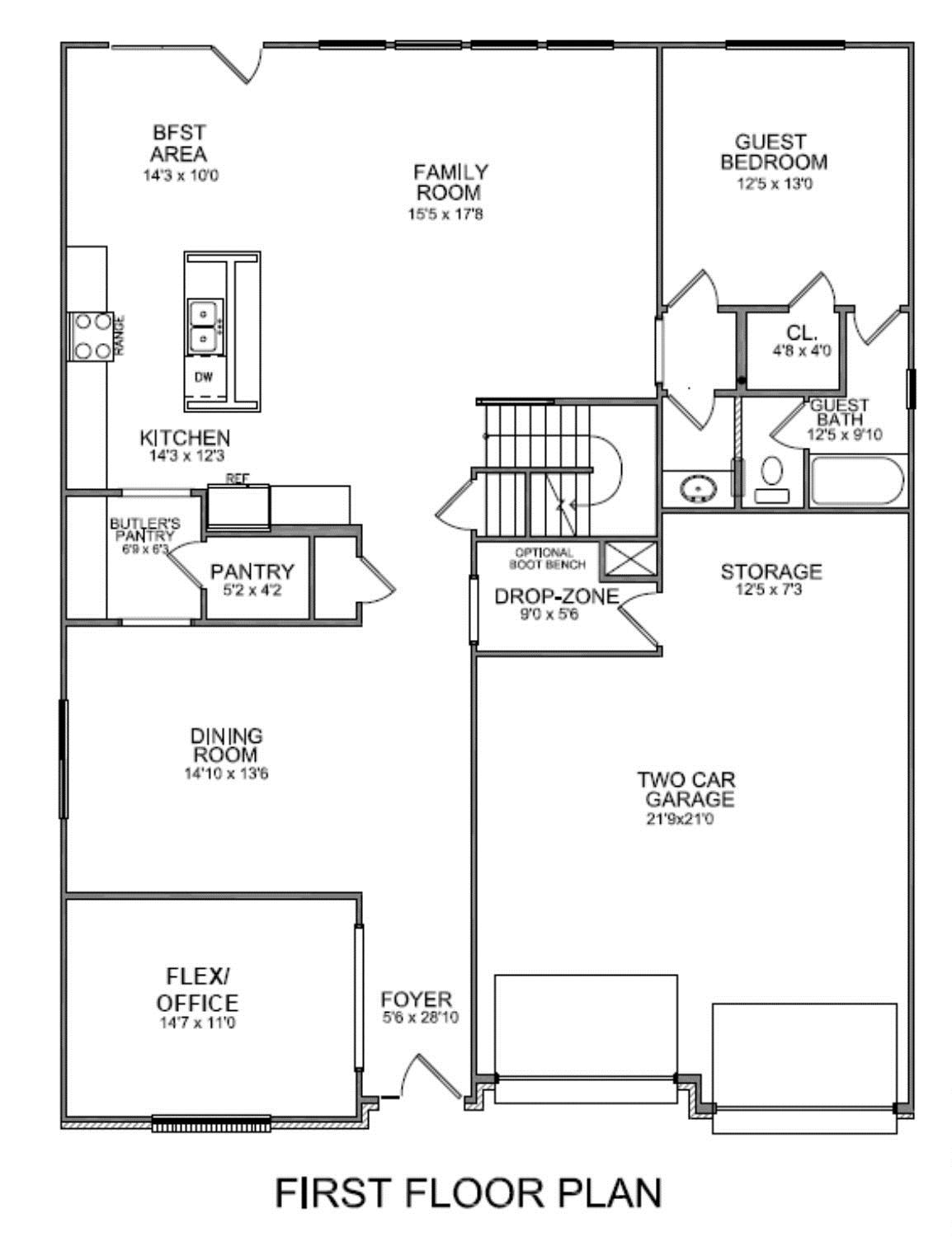 New floor plan for First floor master bedroom floor plans
